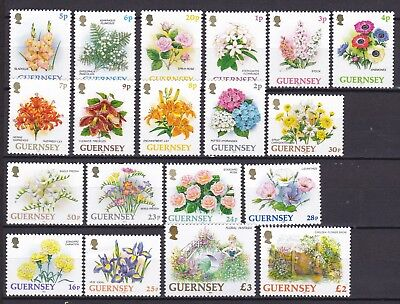 Guernsey 1992 Flowers (3) Mint Never Hinged