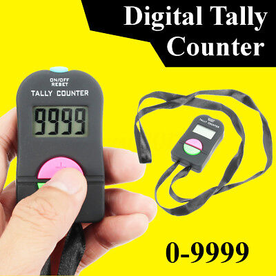 Electronic Digital Hand Tally Counter Manual Security Clicker Gym Supervisor