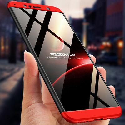 Slim 360° Full Protection Hard Case Shockproof Cover For Huawei Y6 Y7 Prime 2018