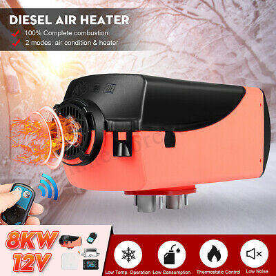 8KW 12V Diesel Air Heater 10L Tank Remote Control LCD For Truck Boat Car Trailer