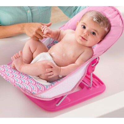 Summer Infant Bath Deluxe Baby Bather Bubble Stripes - Pink