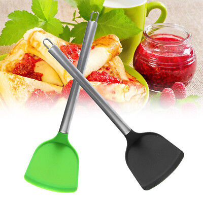3D Silicone Non Stick Stainless Steel Silicone Wok Turner Spatula Utensils B