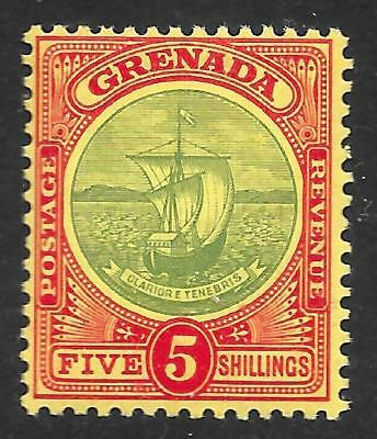 35729f8f65a0b2 Grenada 1908-11 5 - Green   Red Yellow SG 88 (Mint