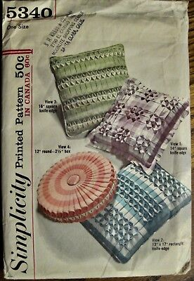 Vintage UNCUT 3 Style Smocked Accent Throw Pillows Pattern