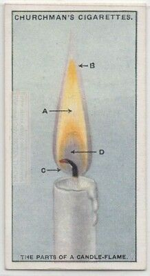 Parts Of Candle Flame Science Experiment Fire 1920s Trade Ad Card