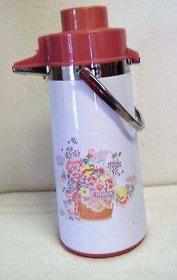 Vintage Phoenix Metal Pump-A-Drink Thermos With Carrying Handle 2 Quarts