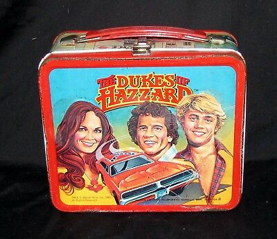 Vintage 1980 DUKES OF HAZZARD GENERAL LEE Aladdin Metal Lunchbox w/ No Thermos