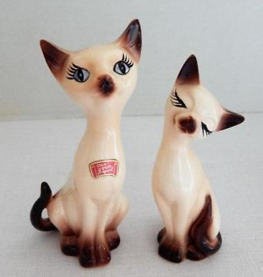 Set of Vintage SIAMESE CATS Salt and Pepper Shakers - Made in Japan