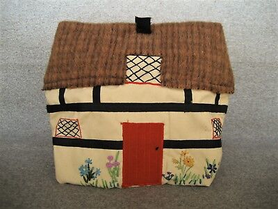 Vintage Handmade Toaster Teapot Cover Embroidered Cottage