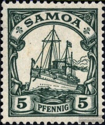 Samoa (German. Colony) 8 with hinge 1900 Ship Imperial Yacht Hohenzollern