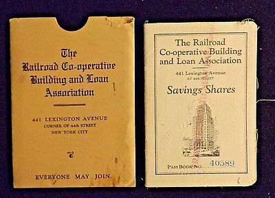 1927 Bank Pass Book New York City - Railroad Co-operative Building & Loan Stock