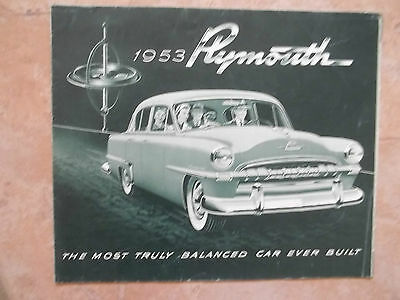 1953 Plymouth Dealership Brochure