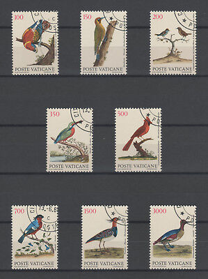 "R/al18343, SET USED STAMPS OF VATICAN, THEME ECOLOGY ""THE BIRDS"", YEAR 1989"
