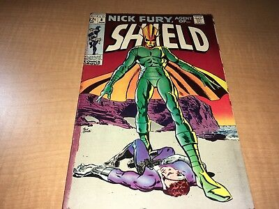 Nick Fury Agent of SHIELD 1968 Marvel Comic Book #8 BC