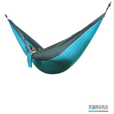 Fashion Single Parachute Nylon Hammock Outdoor Travel Camping Swing Hanging Bed