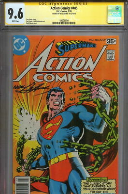 Action Comics #485 CGC SS 9.6 SIGNED Neal Adams Superman #233 Cover Homage Swipe