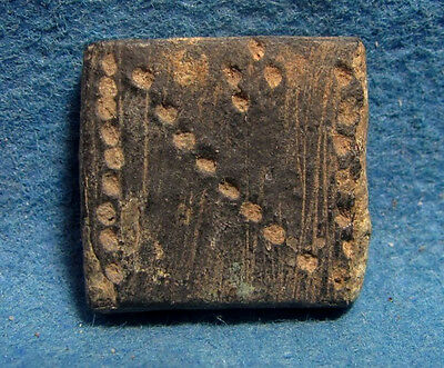 Byzantine 5-7 cen.AD. Numisma bronze weight with CROSS 4.35gram. Numismata.