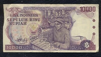 INDONESIA Rp10,000 RUPIAH 1979 PICK 118-VF+; XF