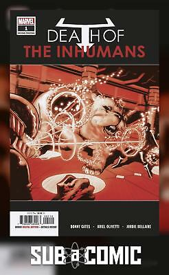DEATH OF INHUMANS #1 OLIVETTI VARIANT (MARVEL 2018 2nd Print) COMIC