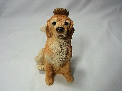 Angel Dog Figurine Golden Retriever Puppy Hand Painted by Crystal Piedra Statue