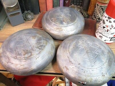 Vintage 1940s International Harvester 3 Diamond Dog Dish Truck Wheel Hubcaps KB