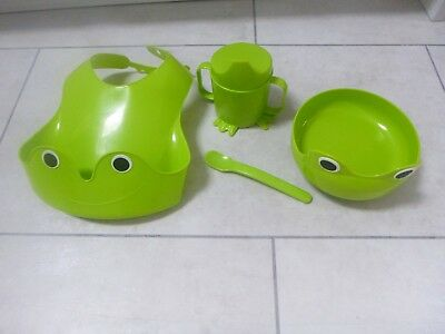IKEA MATA - 4-piece eating set, green. Ex. Cond. NOW GREATLY REDUCED.