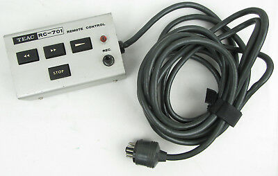 Teac RC-701 Remote Control for A-7030GSL Recorder - Used, Free Shipping