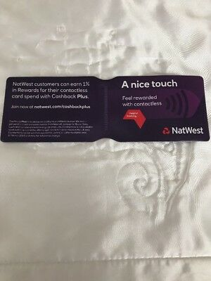 Purple -Nat West Oyster Card Holder Travel Rail Card Holder Plastic - Nice Touch