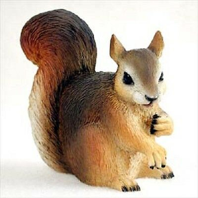 RED SQUIRREL pet HAND PAINTED FIGURINE Resin Statue COLLECTIBLE ANIMAL New