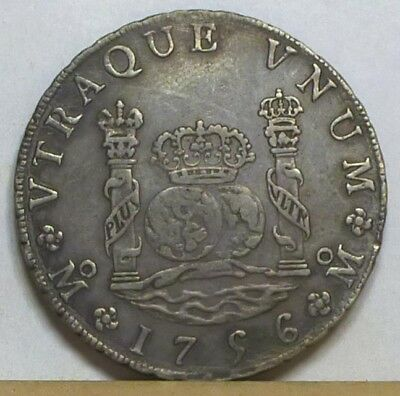 Mexico 8 Reales 1756 Mo-MM About Extremely Fine