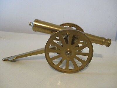 Vintage Brass Cannon Display Figurine Made In Taiwan 12""