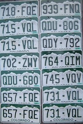 COLORADO Green and White Rocky Mountains License Plate   your choice