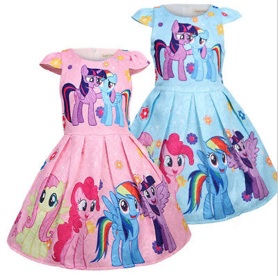 New My Little Pony Party Dress Kids Girls Party Holiday Birthday Princess Dress