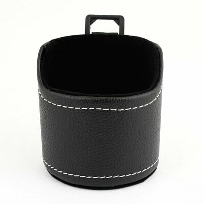 Black Faux Leather Auto Car Air Vent Phone Storage Pouch Pocket