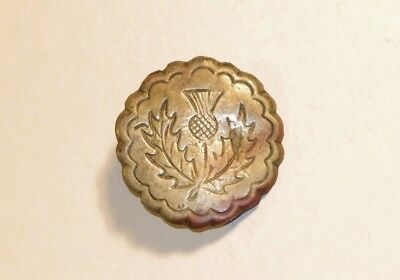Nice 18Th Century Scottish Rifleman's Brooch Badge With A Thistle Decoration