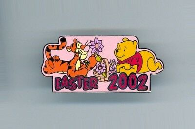 DA Disney Auctions Tigger and Winnie the Pooh Flowers Basket Easter LE 100 Pin