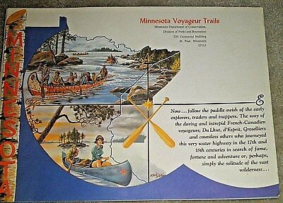 Collectibles,Book,Vintage,Tourism,1970, Minnesota Voyageur Trails,Canoeing,1970