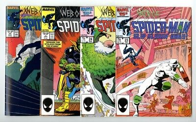Web of Spider-Man #23,24,25,26 Avg NM New Marvel Comics Bronze Copper Collection