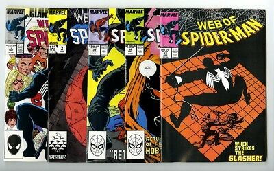 Web of Spider-Man #37,38,39,Annual 2,3 Avg NM Marvel Comics Copper Collection