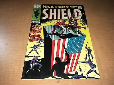 Nick Fury Agent of SHIELD 1969 Marvel Comic Book #13 BC