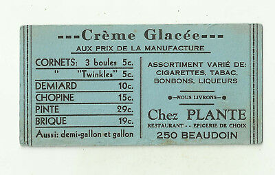 US/Canada Blotter QC Montreal Creme Glacee Chez Plante stree Beaudoin