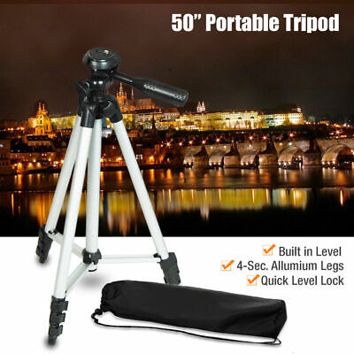 50inch Universal Portable Tripod Stand + Bag for Canon Nikon Camera Camcorder