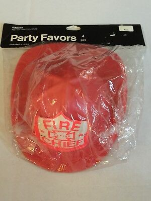 Fire Chief Fire Dept Old Vintage Fireman's Hat Party Favors MIP Amscan