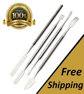 Set of 4 Pcs Stainless Steel Dental Carver Wax Spatula Set Surgical Instruments