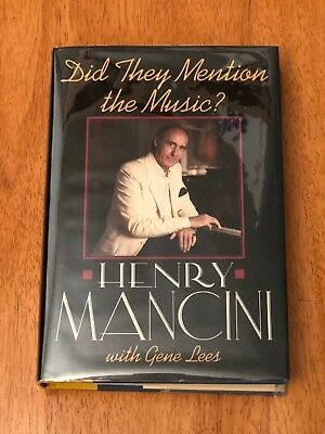 Henry Mancini Moon River Composer Signed Autograph 1st Edition Book With Sketch