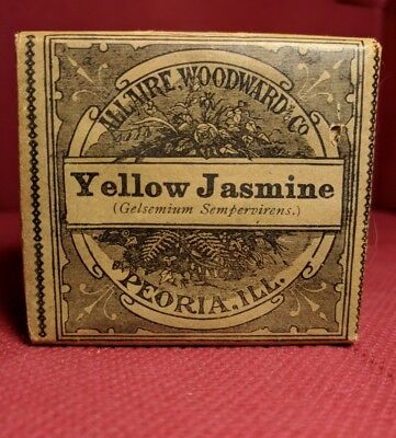 VINTAGE MEDICINE BOX - YELLOW JASMINE - UNOPENED ALLAIRE WOODWARD AND CO -1900's