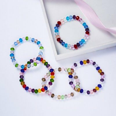 Elastic Stretch Beaded Bracelet Natural Charm Crystal Bangle Women Jewelry Gift