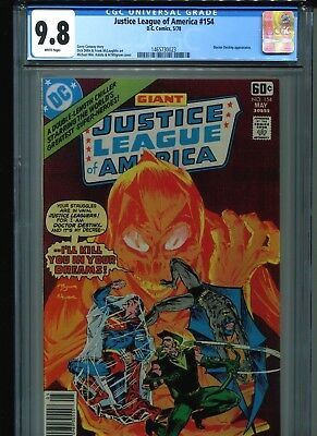 Justice League of America #154 CGC 9.8 (1978) JLA White Pages Highest Grade