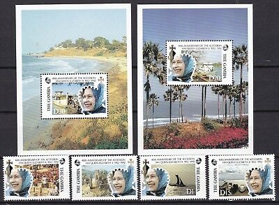 Gambia 1992 Accession Inc 2 X S/s (48) Mint Never Hinged