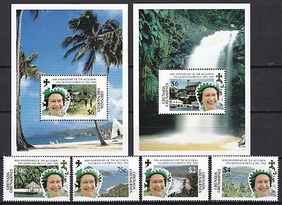 Grenada Grenadines 1992 Accession Inc 2 X S/s (49) Mint Never Hinged
